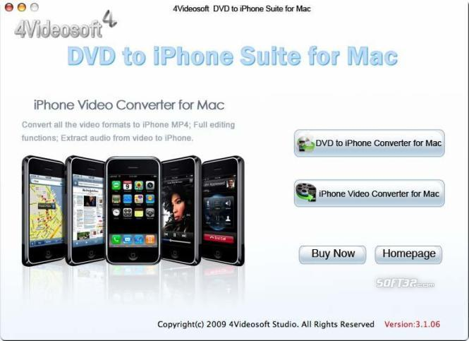4Videosoft DVD to iPhone Suite for Mac Screenshot 2