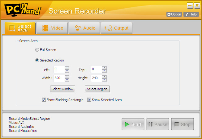 PCHand Screen Recorder Screenshot 1