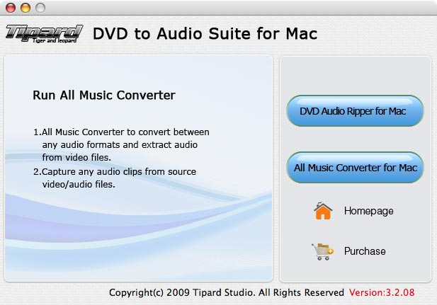Tipard DVD to Audio Suite for Mac Screenshot 1
