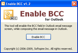 Enable BCC Screenshot 1