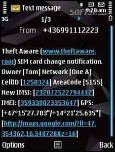 Theft Aware Screenshot 3