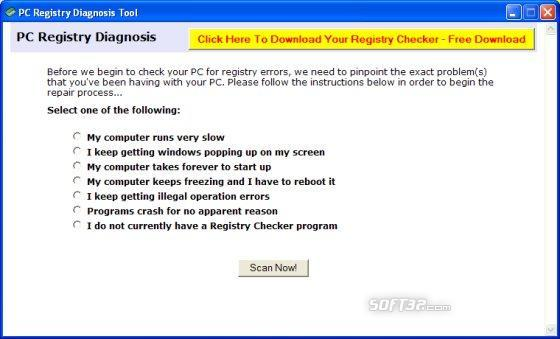 PC Registry Diagnosis Tool Screenshot 3