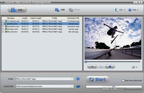 Aneesoft Video Converter Pro Screenshot 3