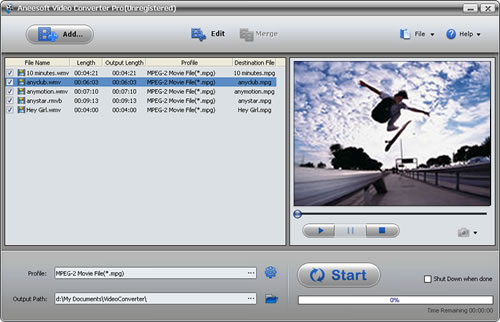Aneesoft Video Converter Pro Screenshot 1