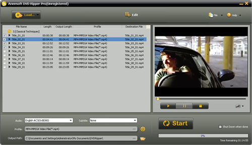 Aneesoft DVD Ripper Pro Screenshot 1
