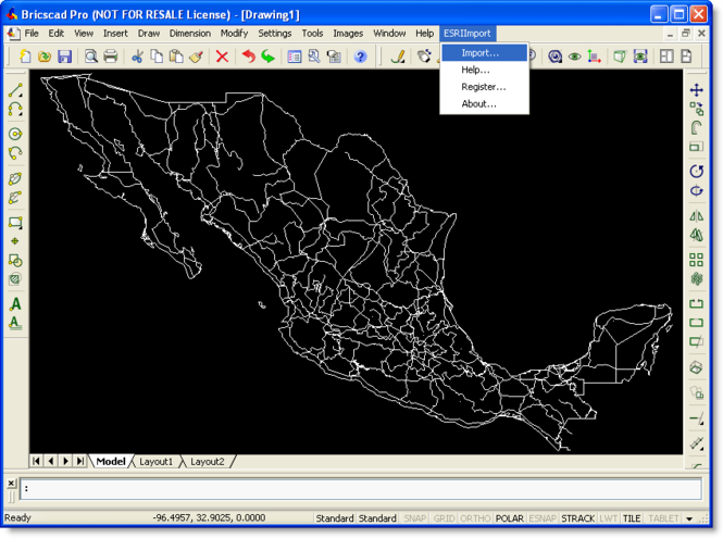 ESRI Import for Bricscad Screenshot 1