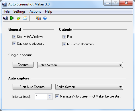 Auto Screenshot Maker Screenshot