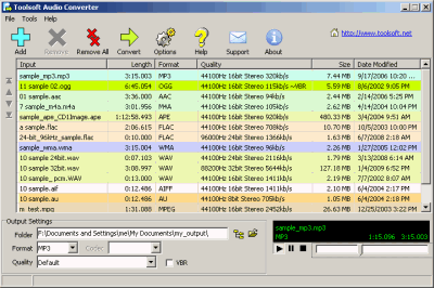 Eufony Free AAC MP3 Converter Screenshot
