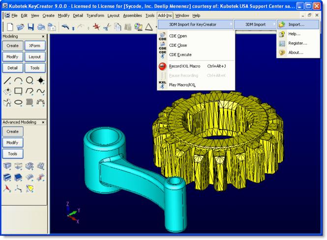3DM Import for KeyCreator Screenshot 1
