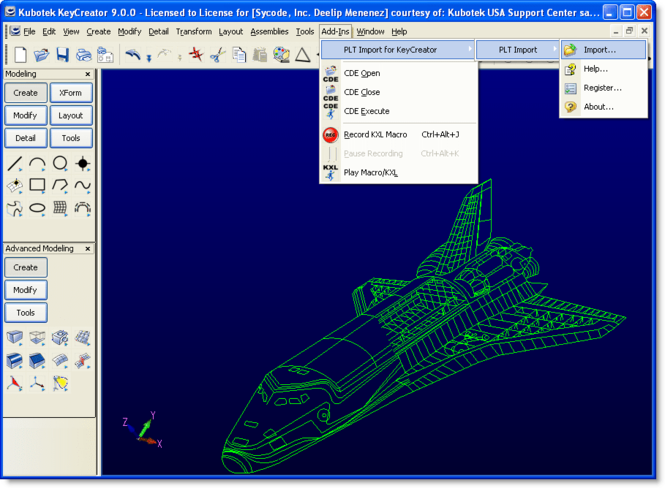 PLT Import for KeyCreator Screenshot 1