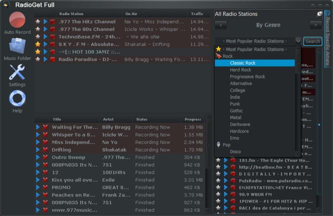 RadioGet Full Screenshot