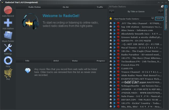RadioGet Full Screenshot 3