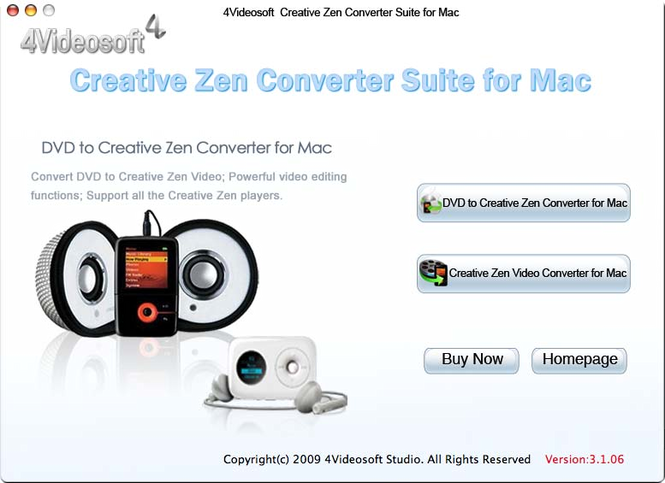 4Videosoft Creative Zen Suite  for Mac Screenshot