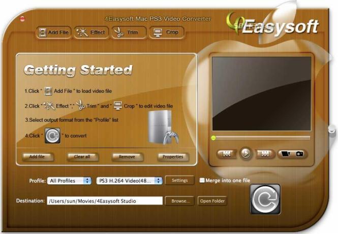 4Easysoft Mac PS3 Video Converter Screenshot 2