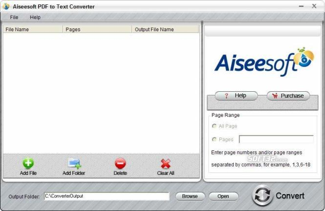 Aiseesoft PDF to Text Converter Screenshot 3