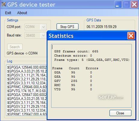 GPSdevTest Screenshot 2