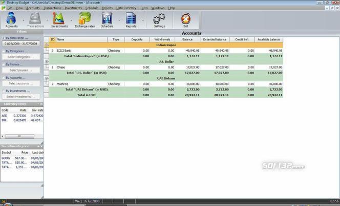 Desktop Budget Lite Screenshot 2