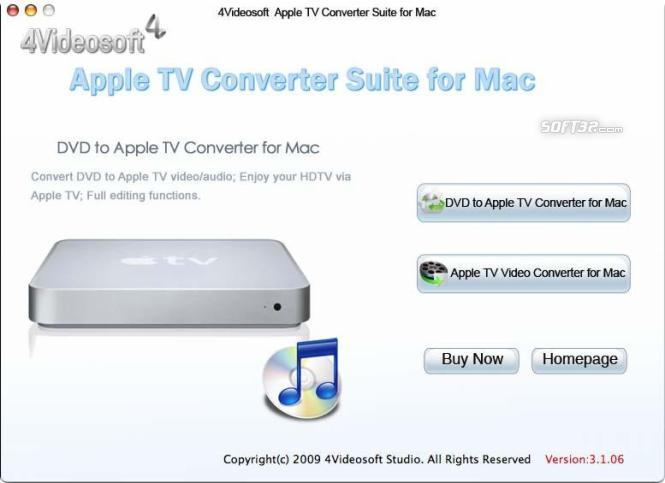 4Videosoft Mac Apple TV Converter Suite Screenshot 2
