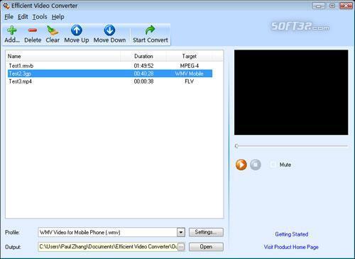 Efficient Video Converter Screenshot 2