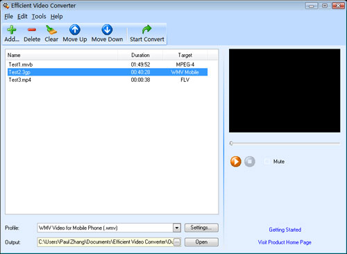 Efficient Video Converter Screenshot