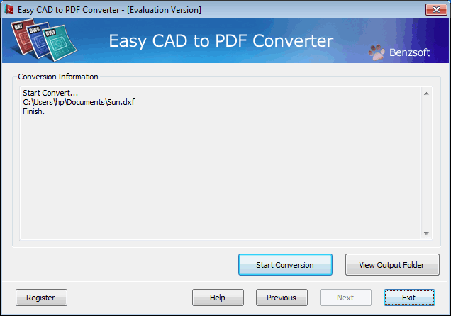 Easy CAD to PDF Converter Screenshot 1