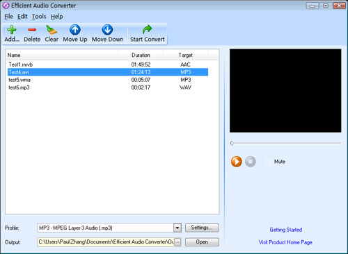 Efficient Audio Converter Screenshot 1