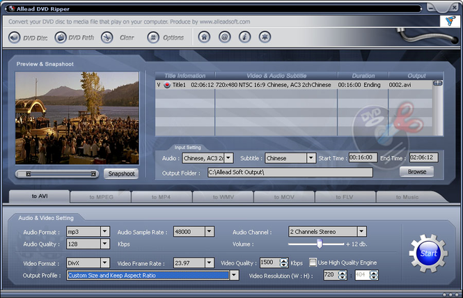Allead DVD Ripper Screenshot