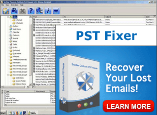 MS Outlook PST Fixer Screenshot