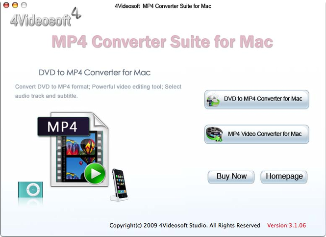 4Videosoft MP4 Converter Suite for Mac Screenshot 1