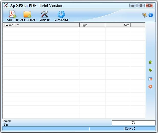 Adultpdf XPS to PDF Converter Screenshot