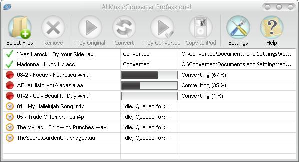 AllMusicConverter Professional Screenshot
