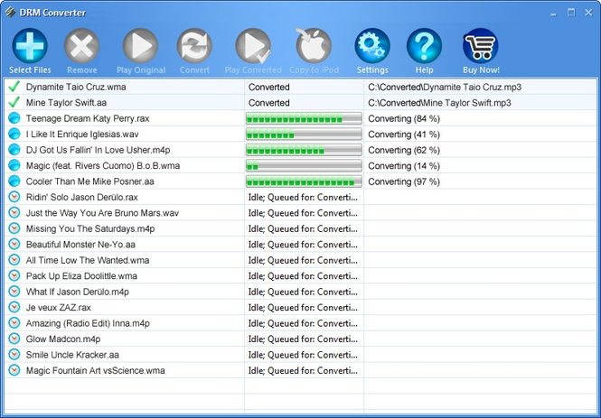DRM Converter Screenshot 1