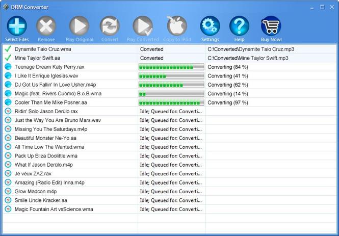 DRM Converter Screenshot