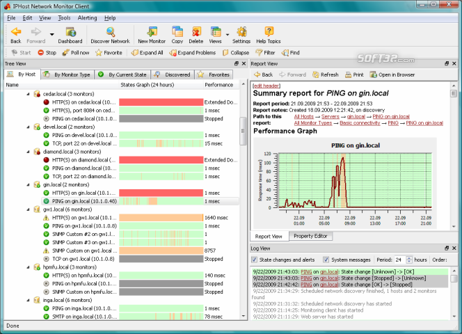 IPHost Network Monitor Professional Screenshot 3