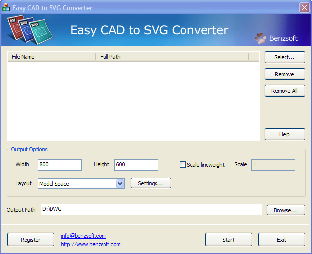 Easy CAD to SVG Converter Screenshot