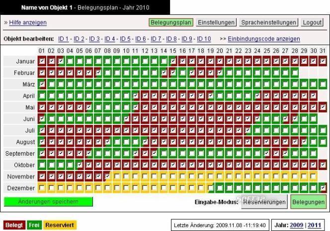 dS-Belegungsplan Screenshot 3