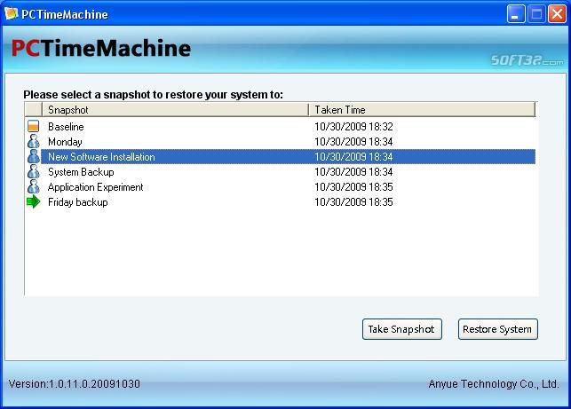 PCTimeMachine Screenshot 1
