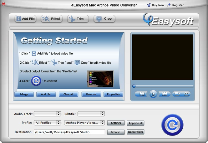 4Easysoft Mac Archos Video Converter Screenshot 1