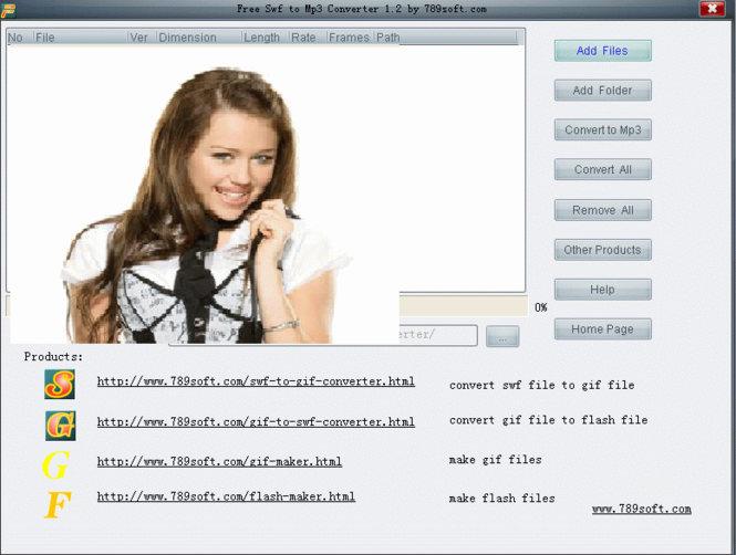 Flash To Mp3 Converter Screenshot