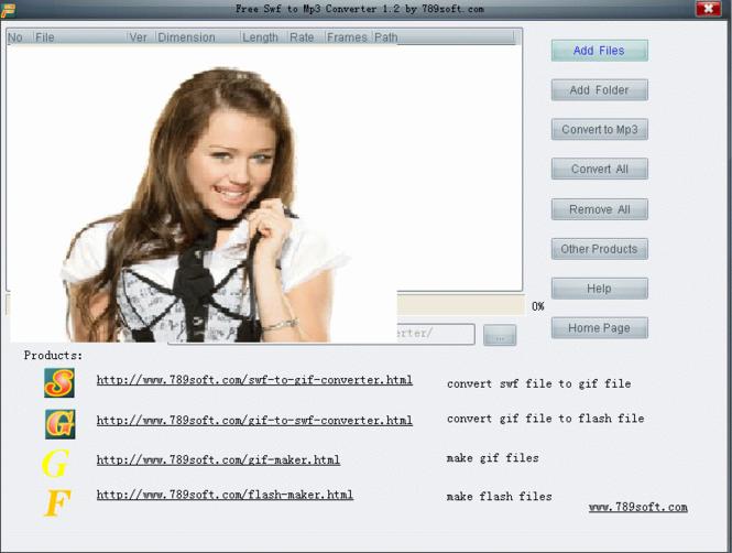 Flash To Mp3 Converter Screenshot 1