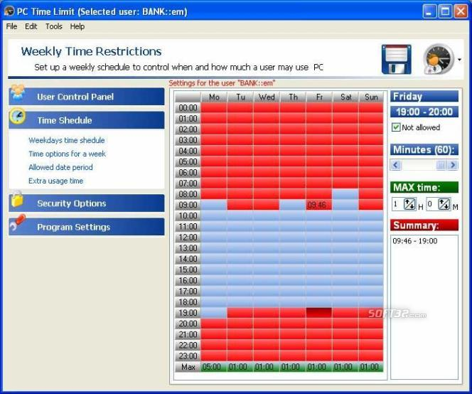 Parental PC Time Tool Screenshot 1