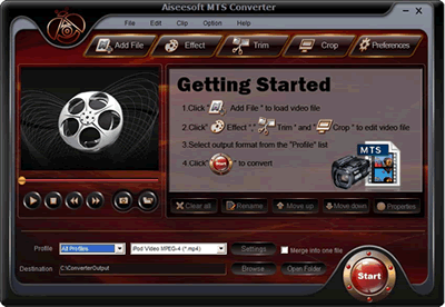 MTS Video Converter 4.0.08 Screenshot 1