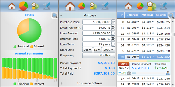 Mortgage Calculator for websites Screenshot