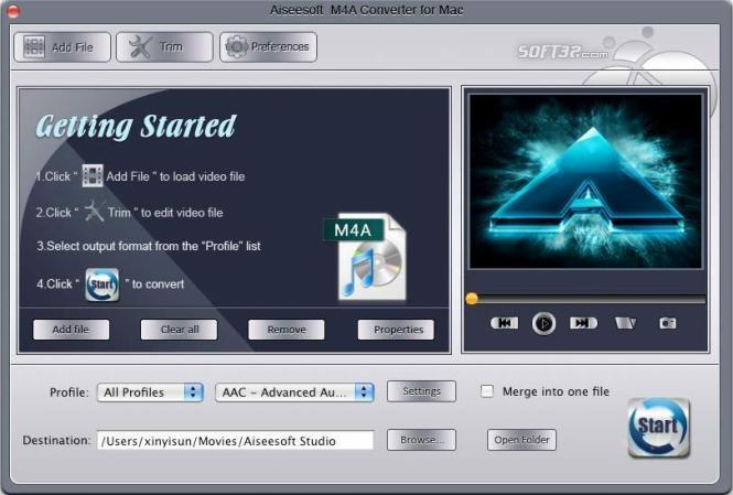 Aiseesoft M4A Converter for Mac Screenshot 2