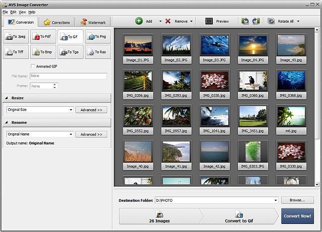 AVS Image Converter Screenshot 1
