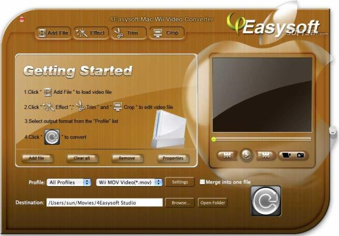 4Easysoft Mac Wii Video Converter Screenshot 2