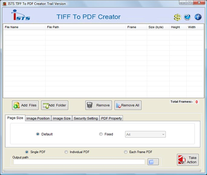 Converting TIF Files to PDF Screenshot