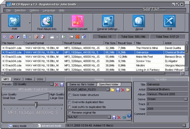 Alt CD Ripper Screenshot 2