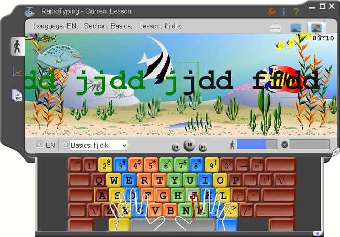 Portable Rapid Typing Tutor Screenshot