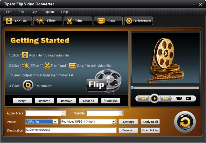 Tipard Flip Video Converter Screenshot 3